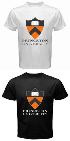 New Princeton University Logo Men's White Black T-Shirt Size S M L XL 2XL T Shirt Novelty Cool Tops Men'S Short Sleeve