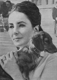 Elizabeth Taylor and Doxie...