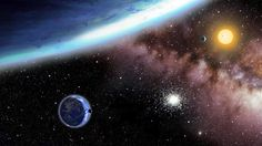 Habitable planets found: Illustration provided by the Harvard Smithsonian Center for Astrophysics shows the 2 newly discovered  earth like planets in the Kepler- habitable zone.