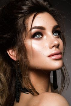 Buy Beautiful woman with professional make up by korabkova on PhotoDune. Beautiful woman with professional make up and hairstyle Face Photography, Photography Women, Beautiful Woman Photography, Girl Face, Woman Face, Beautiful Eyes, Most Beautiful Women, Brunette Beauty, Hair Beauty