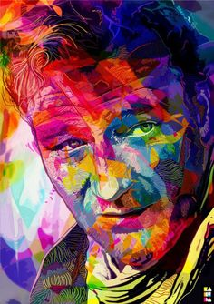John Wayne by Alessandro Pautasso.  #pop_art #color