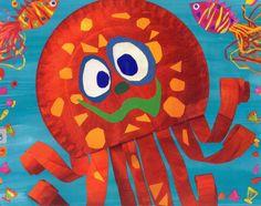 Paper plate octopus idea