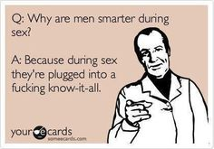 men plugged in smarter during sex