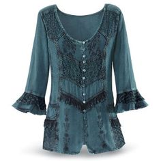 Embroidered Celtic Top - Women's Clothing & Symbolic Jewelry – Sexy, Fantasy, Romantic Fashions