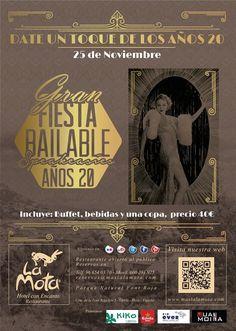 Fiesta años 20 en Masia La Mota, el próximo 25 de noviembre de 2016