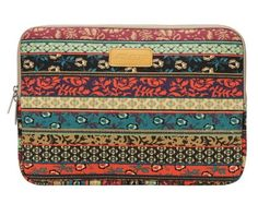 Mosiso® Bohemian Style Canvas Fabric 15-15.6 Inch Laptop / Notebook Computer / MacBook / MacBook Pro / Acer / Asus / Fujitsu / Lenovo / HP / Samsung / Toshiba / Sony Sleeve Case Bag Cover, Mystic Forest Mosiso. (I have this and love it.)