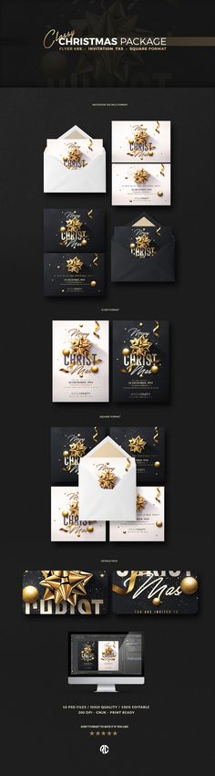 Awesome ! Bundle...Christmas Invitation - Psd Package ... #invitation #christmas #cards