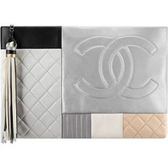 Quilted lambskin patchwork pouch Chanel ❤ liked on Polyvore featuring bags, handbags, lambskin leather handbags, lambskin handbag, lambskin purse, pouch purse and lambskin bag