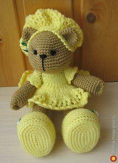 Связанная крючком медведица Элли - вязание и вышивка, плетение, игрушки зверята  хэнд мейд. МегаГрад - авторская ручная работа