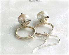 Sterling Silver & Freshwater Pearl Earrings - Jewelry by Jason Stroud.