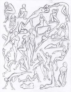 Figure drawing studies - poses by NeoLupeTrooper9893 on deviantART