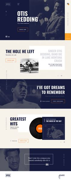 Otis Redding webdesign 2018