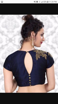 Latest Simple Blouse Back Neck Designs 2019 & 2020 - - Looking for latest blouse designs 2018 collections? Let's have a look at simple blouse design trends for 2019 & blouse designs images are available. Blouse Back Neck Designs, Simple Blouse Designs, Stylish Blouse Design, Fancy Blouse Designs, Latest Blouse Designs, Silk Saree Blouse Designs, Saree Blouse Patterns, Simple Blouse Pattern, Indian Blouse Designs