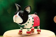 "5.5"" Patience Brewster Krinkles Mini Boston Terrier Decorative Christmas Ornament Patience Brewster http://www.amazon.com/dp/B00OJOMUHY/ref=cm_sw_r_pi_dp_AFEGub1DQVPRD"