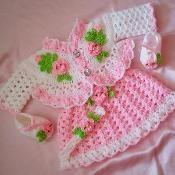 Rosebuds Baby Dress Crochet Pattern
