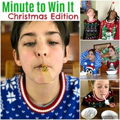 Bring the fun to holiday parties and family gatherings with these Minute to Win It Christmas games. Laughter will abound while you try to beat the clock. Minute To Win It Games Christmas, Fun Christmas Party Games, Xmas Games, Fun Games, Holiday Parties, Xmas Party, Favorite Christmas Songs, Family Fun Night, Thanksgiving Games