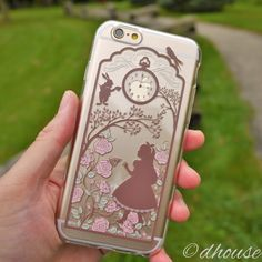 MADE IN JAPAN Soft TPU Clear Case Alice in Wonderland Rabbit design fo – Dhouse USA