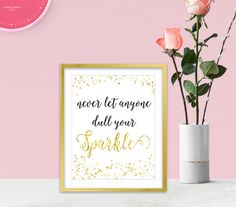 Canvas Wall Art - Inspirational Wall Art - Gold Glitter Sparkles - Inspirational Gifts - Sparkle Collection - Gold Home Decor - Prints starting at $18.00 each. Click on the link to get your's Now!