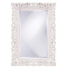 """Howard Elliott Barcelona White Mirror 32"""" x 46"""" x 1"""""""