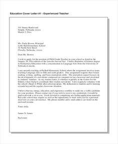 Elementary teacher cover letter sample professional pinterest sample teacher cover letter free documents pdf doc other new example best free home design idea inspiration altavistaventures Image collections