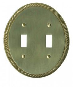 Solid #Brass #Switchplate Double Toggle Oval Braided # 97747 Shop --> http://www.rensup.com/Switchplates/Switchplates-Solid-Brass-Oval-Braided-Doubl-Toggle-Switch-Plate/pd/97747.htm?CFID=1797075&CFTOKEN=b91cff837e7f52c3-296EBA35-A424-6B4A-5093FFDC5DA88813