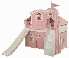 In love with this!!! Emma Twin Loft with Tent Options, Bunk Beds, Furniture for Girls