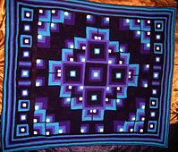 Ravelry: Mandala Geometric Crochet Blanket pattern by Toni Andmarc.I'm really going to make this one.