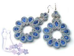Saphire earrings - Sutasz-Anka http://www.soutage.com/2013/04/saphire-kolczyki.html