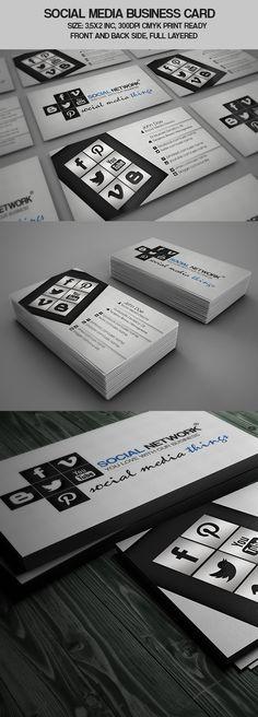 Social Media Business Card New Version by Adis Cengic, via Behance