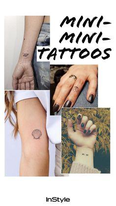Tattoo-Trends 2018: Diese winzigen Mini-Tattoos wollen wir! #tattoos #body #lifestyle Mini Tattoos, Cute Tattoos, Tatoos, First Tattoo, Get A Tattoo, Fun Tattoo, Small Best Friend Tattoos, Trends 2018, Tattoo Trends