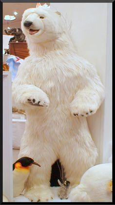 Luxury Lifesize, Life-like and Realistic Large Plush Stuffed Animals Polar Express Party, Giant Stuffed Animals, Bear Decor, Stuffed Animal Patterns, Plush Animals, Polar Bears, Teddy Bears, Elegant Christmas, Festivals