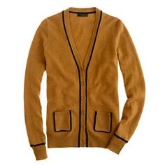 Jcrew: Collection cashmere tipped boyfriend cardigan