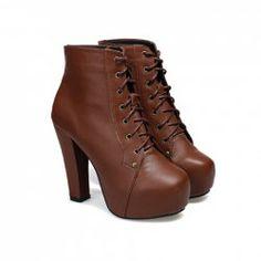 $16.61 Elegant Women's Short Boots With Solid Color and Platform Design