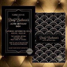 Birthday Invitation Save the Date Wedding by PaperandPomp on Etsy, $16.50