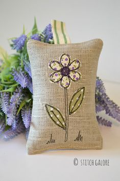 Stitch Galore: Linen Lavender Bags                                                                                                                                                                                 More
