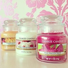 Image about pink in Candles by dejah 🥀 on We Heart It Pink Candles, Luxury Candles, Scented Candles, Candle Jars, Yankee Candles, Pink Dragon Fruit, Strawberry Buttercream, Candle Store, Candle Accessories