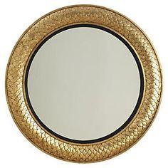 """40"""" Round Regency Mirror, Gold"""