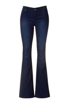 Dark flare jeans with lots of stretch. Flares are one of our favorite styles…