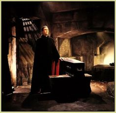 Granville Davies has asked, 'Do you have a favourite photograph of Christopher Lee as Dracula....but not from a Cushing/ Lee/Dracula film?' Yes, Granville! It would probably have to be this one, from 'Dracula Has Risen From The Grave' (#hammerfilms 1968) There are some beautiful stills from this film..
