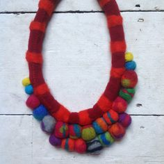 Beautiful Felted and Sewn Decorative by SarahJarrettHandMade