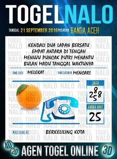 Angka Akurat Togel Online Live Draw 4D TogelNalo Banda Aceh 21 September 2016