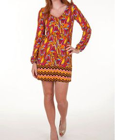 Tracy Negoshian Shirley Dress- pretty fall colors