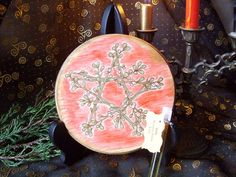 Made to Order Yule Altar Tile Mistletoe by TheWhimsicalPixie11, $20.99