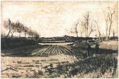 Vincent Willem van Gogh (1853-1890). Aardappelveld achter de duinen, juli 1883