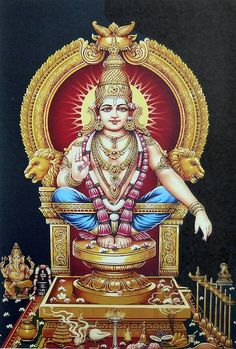 Lord Ayyappan - Hindu Posters (Reprint on Paper - Unframed) Lord Murugan Wallpapers, Lord Krishna Wallpapers, Hindu Worship, Ganesha Tattoo, Lord Shiva Hd Images, Lakshmi Images, Lord Shiva Family, Baba Image, Shiva Wallpaper