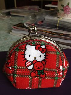 FREE SHIPPING  Handmade Coin Purse Hello Kitty by Apursemarket, $20.00