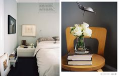 this is the ultimate relaxing wall color! on the left