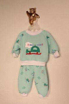 BNWT Baby Boys Panda Pyjamas Set Top Trousers 0-3-6-9 Months