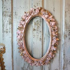 Rose picture frame wall hanging large oval by AnitaSperoDesign