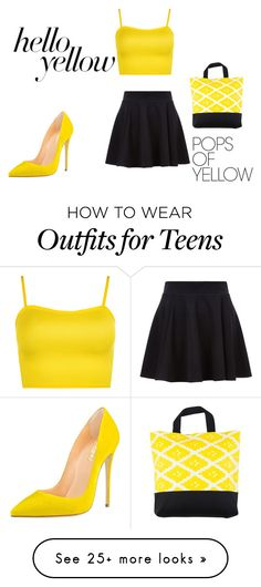 """Pop of Yellow sun set"" by alaynadashiell on Polyvore featuring WearAll, Bococo, PopsOfYellow and NYFWYellow"